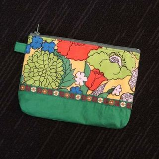 Floral Green Pouch