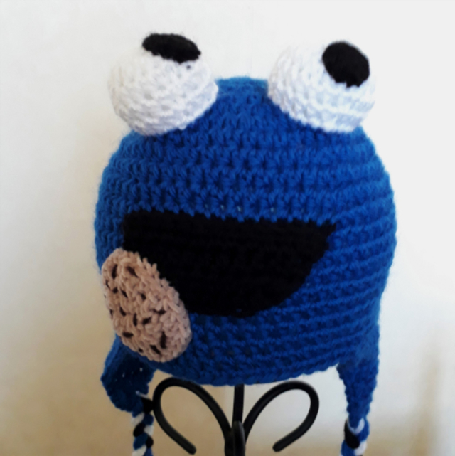 Cookie Monster Hat 3-5 years